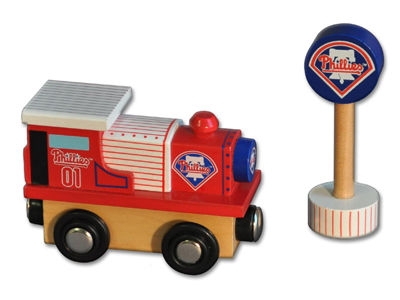Philadelphia Phillies Wooden Train