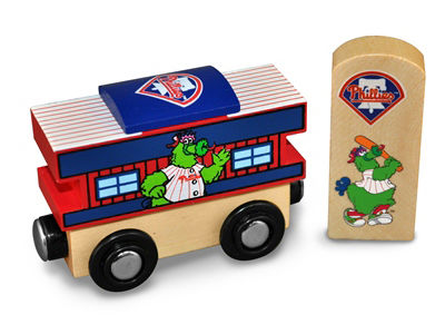 Philadelphia Phillies Wooden Caboose
