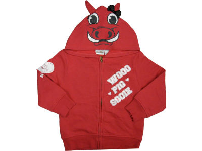 Arkansas Razorbacks NCAA Toddler 3D Mascot Zip Hoodie