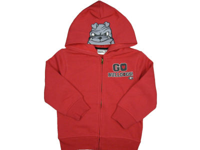 Georgia Bulldogs NCAA Youth 3D Mascot Zip Hoodie