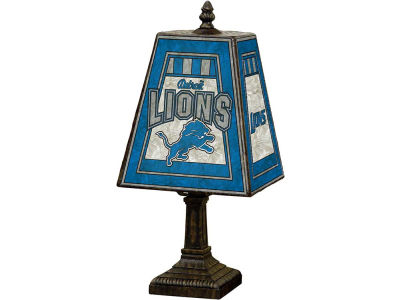 Detroit Lions Art Glass Table Lamp