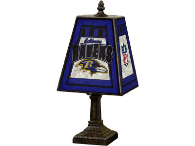 Baltimore Ravens Art Glass Table Lamp