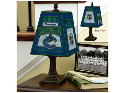 Vancouver Canucks Art Glass Table Lamp