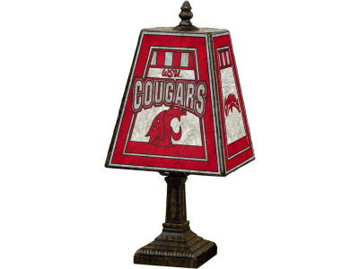 Washington State Cougars Art Glass Table Lamp