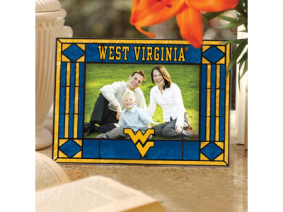 West Virginia Mountaineers Art Glass Picture Frame