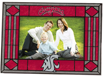 Washington State Cougars Art Glass Picture Frame