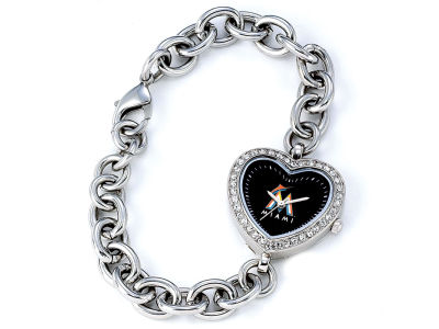 Miami Marlins Womens Heart Series Watch