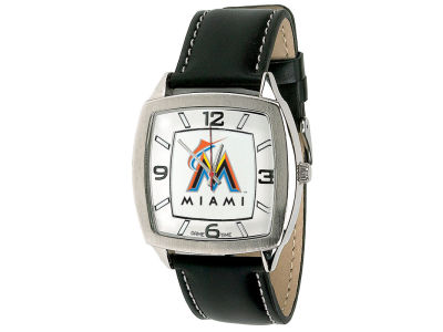 Miami Marlins Retro Leather Watch
