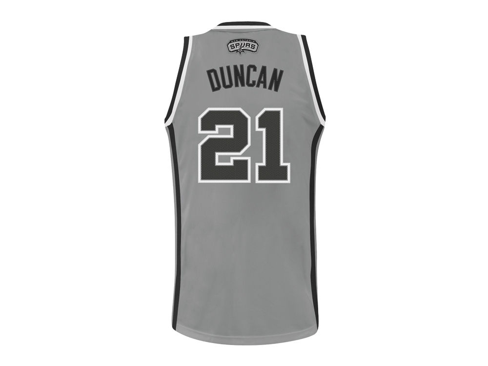 save off 87420 56ab5 San Antonio Spurs Tim Duncan adidas NBA Revolution 30 Swingman Jersey