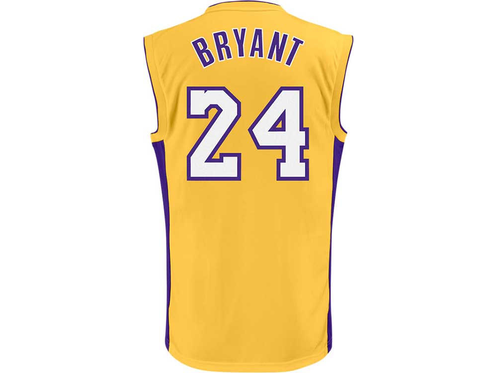 2e28cff46 Los Angeles Lakers Kobe Bryant adidas NBA Rev 30 Replica Jersey ...