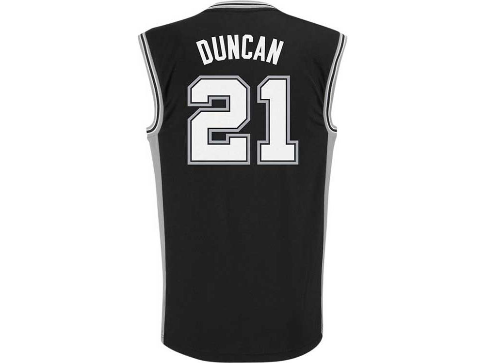 sports shoes 9350a b4db0 San Antonio Spurs Tim Duncan adidas NBA Rev 30 Replica Jersey
