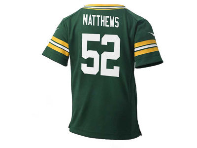 Green Bay Packers Clay Matthews Nike NFL Kids Game Jersey