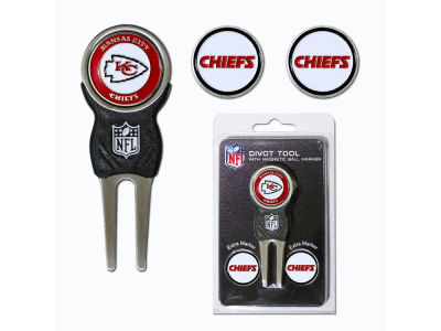 Kansas City Chiefs Divot Tool and Markers