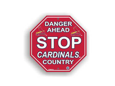 St. Louis Cardinals Stop Sign