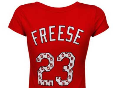 St. Louis Cardinals David Freese MLB Women's Repeat Player T-Shirt
