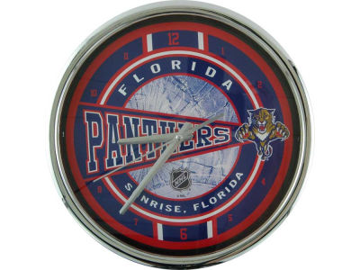 Florida Panthers Chrome Clock
