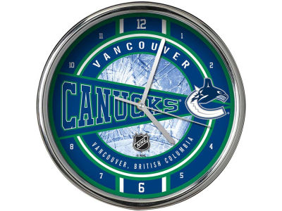 Vancouver Canucks Chrome Clock