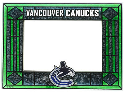 Vancouver Canucks Art Glass Picture Frame