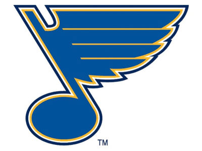 St. Louis Blues 4x4 Die Cut Decal Color