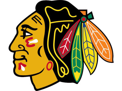 Chicago Blackhawks 4x4 Die Cut Decal Color