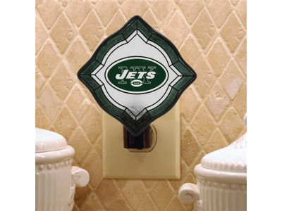 New York Jets Vintage Art Glass Night Light