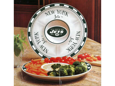 New York Jets Ceramic Chip & Dip
