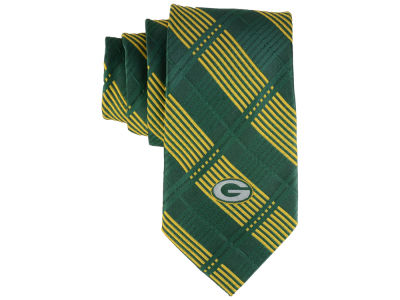 Green Bay Packers Necktie Woven Poly Plaid