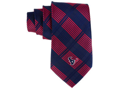 Houston Texans Necktie Woven Poly Plaid