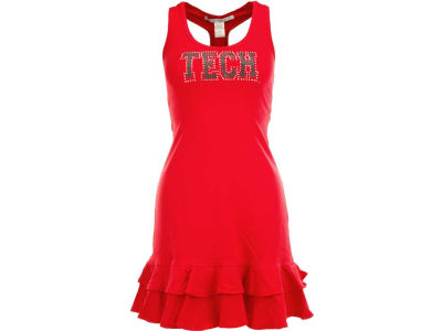 Texas Tech Red Raiders NCAA Womens Ruffle Racerback Dress
