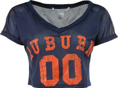 Auburn Tigers NCAA Womens Cropped Jersey