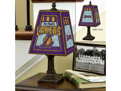 Los Angeles Lakers Art Glass Table Lamp
