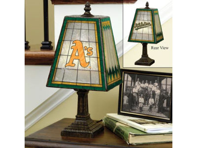 Oakland Athletics Art Glass Table Lamp