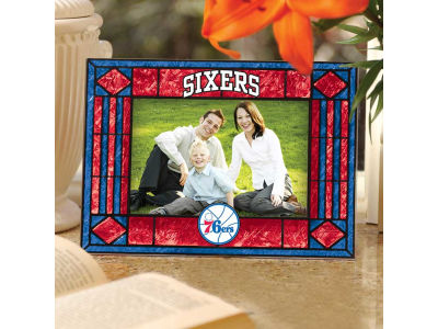 Philadelphia 76ers Art Glass Picture Frame