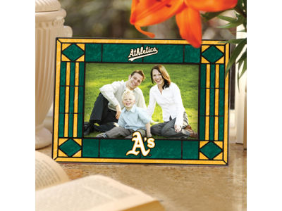 Oakland Athletics Art Glass Picture Frame
