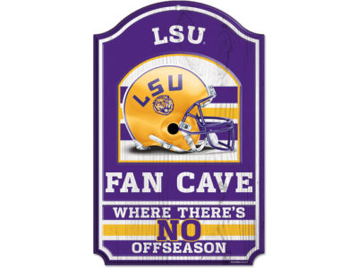 LSU Tigers 11x17 Wood Sign