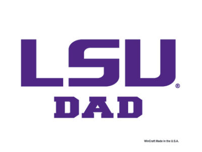 LSU Tigers 3x4 Ultra Decal
