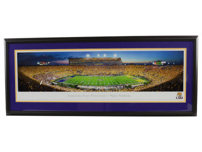 LSU Tigers Panoramic Deluxe Framed