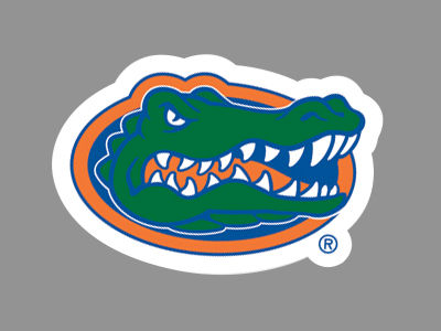 Florida Gators 4x4 Die Cut Decal Color