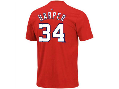 Washington Nationals Bryce Harper Majestic MLB Youth Player T-Shirt
