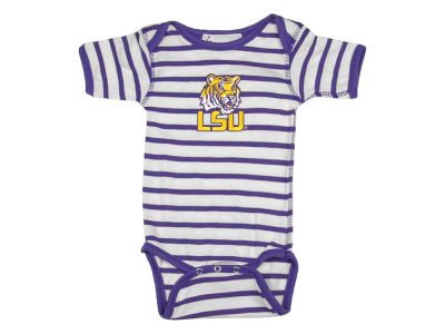 LSU Tigers NCAA Newborn Stripe Creeper