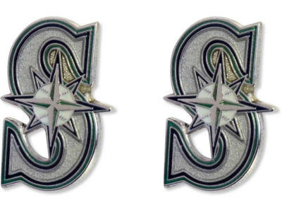 Seattle Mariners Logo Post Earrings