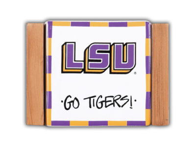 LSU Tigers Ceramic Coaster Set-4 pack