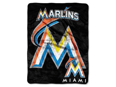 Miami Marlins 50x60in Plush Throw Blanket