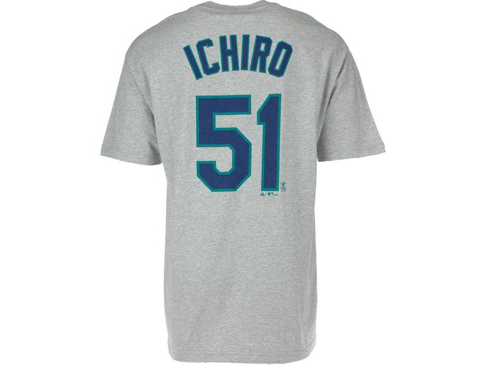 ... closeout seattle mariners ichiro suzuki majestic mlb mens player t shirt  a7ad7 103e4 ... f133c72cd
