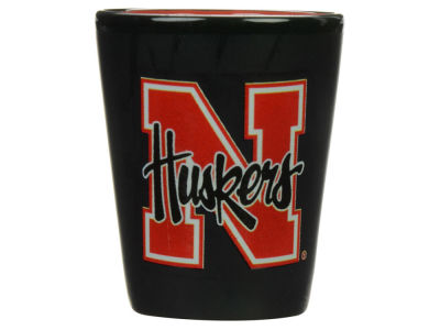 Nebraska Cornhuskers 2 Tone Ceramic Collectors Glass