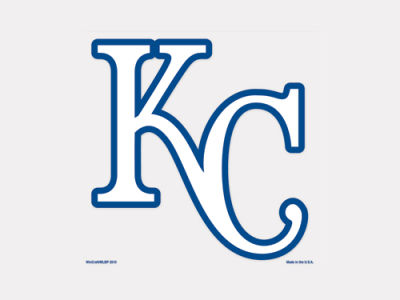 Kansas City Royals 4x4 Die Cut Decal Color
