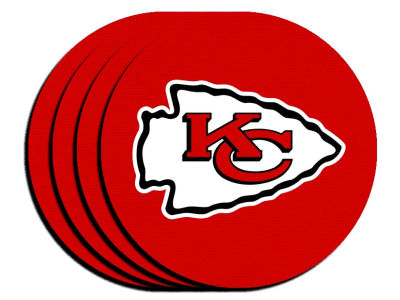 Kansas City Chiefs 4-pack Neoprene Coaster Set