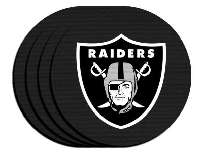 Oakland Raiders 4-pack Neoprene Coaster Set