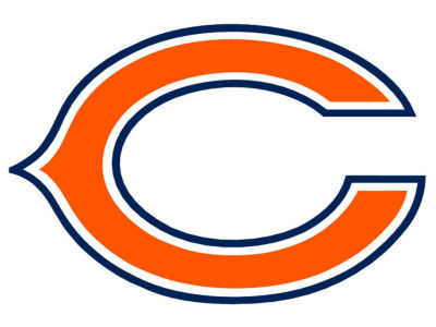 Chicago Bears 4x4 Die Cut Decal Color