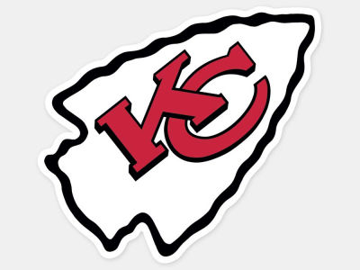 Kansas City Chiefs 4x4 Die Cut Decal Color